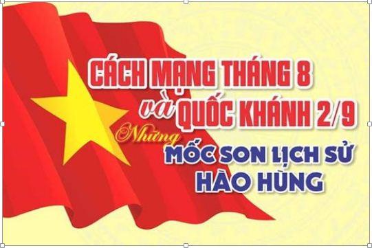 Kỷ niệm 76 năm cách mạng tháng 8 và Quốc khánh nước Cộng hòa Xã hội Chủ nghĩa Việt Nam (2/9/1945 – 2/9/2021)