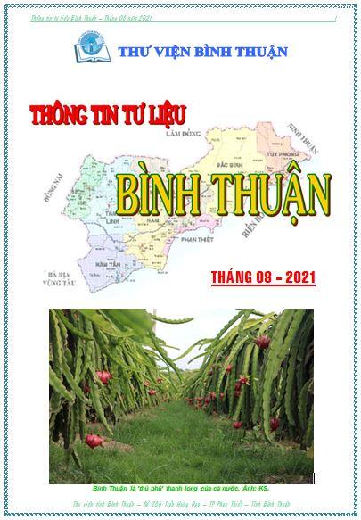 Thông tin tư liệu Bình Thuận tháng 8 năm 2021