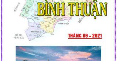Thông tin tư liệu Bình Thuận tháng 9 năm 2021